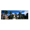 iCanvas Panoramic 'Statue of King Kamehameha in Front of a Government Building, Aliiolani Hale, Honolulu County' Photographic Print on Canvas