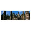 iCanvasArt Panoramic Statue of Buddha in a Temple, Wat Mahathat, Sukhothai, Thailand Photographic Print on Canvas