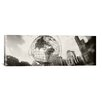 <strong>iCanvasArt</strong> Panoramic 'Steel Globe, Columbus Circle, Manhattan, New York City' Photographic Print on Canvas