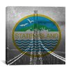 iCanvasArt Flags Staten Island The Verrazano-Narrows Bridge Graphic Art on Canvas