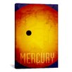 iCanvasArt 'The Planet Mercury' by Michael Thompsett Painting Print on Canvas
