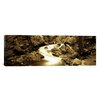 iCanvasArt Panoramic Stream Flowing Through Rocks, Lee Vining Creek, Lee Vining, Mono County, California Photographic Print on Canvas