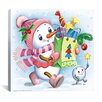 "iCanvas ""The Snow Girl with Gifts"" Canvas Wall Art by Olga and Aleksey Drozdov"