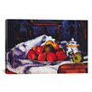 <strong>iCanvasArt</strong> 'Still Life Bowl of Apples' by Paul Cezanne Painting Print on Canvas