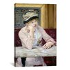 iCanvas 'The Plum (Brandy)' by Edouard Manet Painting Print on Canvas