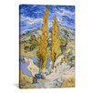 <strong>iCanvasArt</strong> 'The Poplars at Saint-Remy' by Vincent Van Gogh Painting Print on Canvas