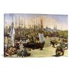 iCanvasArt 'The Port of Bordeaux' by Edouard Manet Painting Print on Canvas