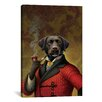 "<strong>iCanvasArt</strong> ""The Red Beret (Dog)"" Canvas Wall Art by Dan Craig"