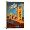 iCanvas Anderson Design Group Scenic Tower Bridge - Sacramento, California Graphic Art on Canvas