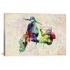 iCanvasArt 'Scooter Vespa (Urban)' by Michael Tompsett Graphic Art on Canvas