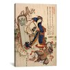 iCanvasArt 'The Strong Oi Pouring Sake' by Katsushika Hokusai Painting Print on Canvas