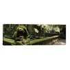 iCanvas Panoramic Statue of a Monkey in a Temple, Bathing Temple, Ubud Monkey Forest, Ubud, Bali, Indonesia Photographic Print on Canvas