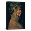 iCanvasArt 'The Summer' by Giuseppe Arcimboldo Painting Print on Canvas