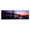 iCanvas Panoramic Suspension Bridge Across a River, Ben Franklin Bridge, Philadelphia, Pennsylvania Photographic Print on Canvas