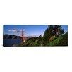 iCanvas Panoramic Suspension Bridge Across the Bay, Golden Gate Bridge, San Francisco Bay, San Francisco, California Photographic Print on Canvas