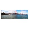 iCanvasArt Panoramic Suspension Bridge Across the Sea, Golden Gate Bridge, San Francisco, California Photographic Print on Canvas