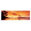 iCanvas Panoramic Sunset, Huahine Island, Tahiti Photographic Print on Canvas