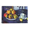 iCanvasArt 'Still Life with Apples' by Paul Cezanne Painting Print on Canvas