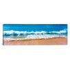 iCanvasArt Panoramic Surf Fountains Big Makena Beach Maui, Hawaii Photographic Print on Canvas