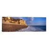 iCanvas Panoramic Surf on the Beach, Hooken Beach, Branscombe, Devon, England Photographic Print on Canvas