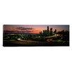 iCanvas Panoramic Sunset Puget Sound and Seattle Skyline Washington Photographic Print on Canvas