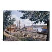 "iCanvas ""Steam Along Hudson"" Canvas Wall Art by Stanton Manolakas"