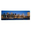 iCanvas Panoramic Brooklyn Bridge, East River, Manhattan, New York City, New York State  Photographic Print on Canvas
