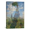 iCanvas 'Woman with a Parasol (Madame Monet and Her Son) 1875' by Claude Monet Painting Print on Canvas