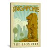 iCanvas 'The Lion City - Singapore' by Anderson Design Group Vintage Advertisement on Canvas