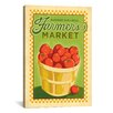 iCanvas 'Support Your Local Farmers Market' by Anderson Design Group Vintage Advertisement on Canvas