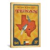 iCanvasArt The Lone Star State - Texas by Anderson Design Group Vintage Advertisement on Canvas