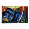 iCanvasArt 'The Large Blue Horse' by Franz Marc Painting Print on Canvas