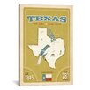 iCanvasArt 'The Lone Star State - Texas ll' by Anderson Design Group Vintage Advertisement on Canvas