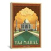 iCanvas Taj Mahal - India by Anderson Design Group Vintage Advertisment on Canvas
