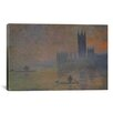 iCanvas 'The Houses of Parliament 1902-1904' by Claude Monet Painting Print on Canvas