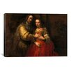 iCanvasArt 'The Jewish Bride' by Rembrandt Painting Print on Canvas