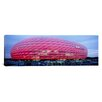 iCanvasArt Panoramic Soccer Stadium Lit up at Dusk, Allianz Arena, Munich, Germany Photographic Print on Canvas