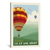 iCanvasArt 'SoN Hot Air Balloons' by Anderson Design Group Vintage Advertisement on Canvas