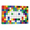 iCanvas Space Invaders Rainbow Cube Art Graphic Art on Canvas