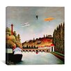 "iCanvasArt ""View of the Bridge at Sevres"" Canvas Wall Art by Henri Rousseau"