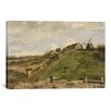 <strong>iCanvasArt</strong> 'The Hill at Montmartre with Stone Quarry' by Vincent Van Gogh Painting Print on Canvas