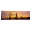 iCanvasArt Panoramic Tower Bridge London England Photographic Print on Canvas