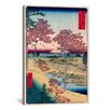iCanvasArt 'View of the Sunset at Meguro, Edo' by Ando Hiroshige Painting Print on Canvas