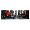 iCanvasArt Panoramic Traffic on a Road, Times Square, New York City Photographic Print on Canvas