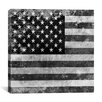 iCanvas Flags U.S.A. - Grunge Graphic Art on Canvas