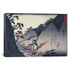 "iCanvasArt ""Travellers on a Mountain Path at Night"" Canvas Wall Art by Utagawa Hiroshige l"