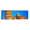 iCanvasArt Panoramic Leaning Tower of Pisa, Piazza Dei Miracoli, Pisa, Tuscany, Italy Photographic Print on Canvas