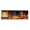 iCanvasArt Panoramic Traffic on the Road at Dusk, Michigan Avenue, Chicago, Cook County, Illinois Photographic Print on Canvas