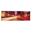 <strong>iCanvasArt</strong> Panoramic Traffic on the Road at Dusk, Michigan Avenue, Chicago, Cook County, Illinois Photographic Print on Canvas