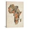 "iCanvas ""Typography (Countries) Map of Africa"" by Michael Thompsett Textual Art on Canvas"